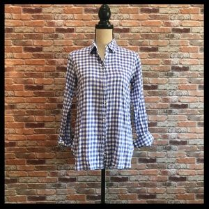 J. Crew Relaxed Boy Shirt In Crinkle Gingham